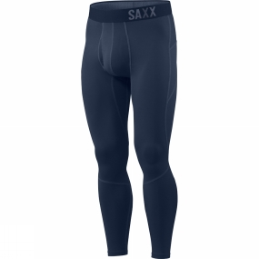 Saxx Mens Thermo-Flyte Tights with Fly Navy Saxx Mens Thermo-Flyte Tights with Fly Navy by Saxx