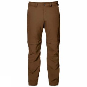 Jack Wolfskin Jack Wolfskin Mens Canyon Zip Off Pants Deer Brown