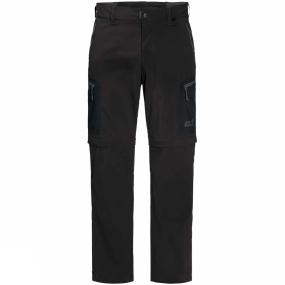 Jack Wolfskin Jack Wolfskin Mens Activate Light Zip Off Trousers Black