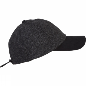 Ayacucho Mens Herringbone Wool Baseball Cap Anthracite