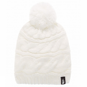 The North Face Triple Cable Beanie White
