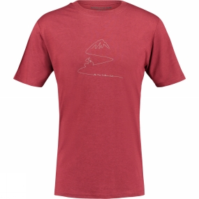 Ayacucho Mens Burn Out T-Shirt Pomegranate