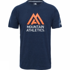 The North Face The North Face Mens Wicker Graphic Crew Urban Navy Heather/Persian Orange