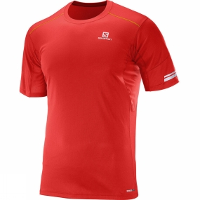 Salomon Salomon Mens Agile Short Sleeve Tee Matador