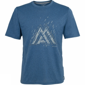 The North Face The North Face Mens MA Graphic Reaxion Amp Crew Shady Blue Heather
