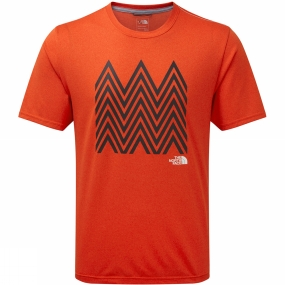 The North Face The North Face Mens MA Graphic Reaxion Amp Crew Acrylic Orange Heather
