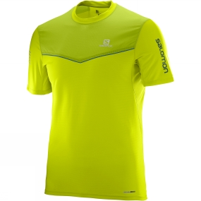 Salomon Salomon Mens Fast Wing Short Sleeve Tee Lime Punch/ Lime Green