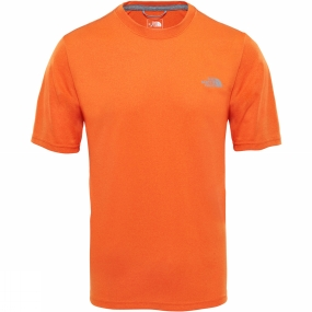 The North Face The North Face Men Reaxion Amp Crew T-Shirt Persian Orange Heather
