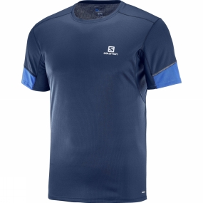 Salomon Salomon Mens Agile Short Sleeve Tee Dress Blue