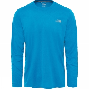 The North Face The North Face Men's Reaxion Amp Long Sleeve Crew Brilliant Blue Heather