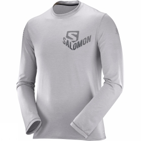 Salomon Salomon Mens Pulse Long Sleeve Tee Alloy
