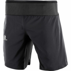 Salomon Salomon Mens Trail Runner Twinskin Shorts Black
