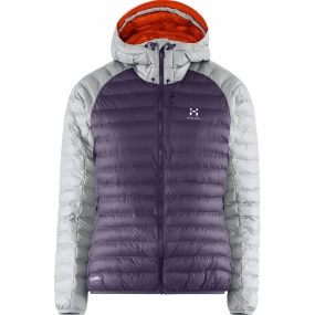 Haglofs Haglofs Womens Essens Mimic Hood Acai Berry / Haze