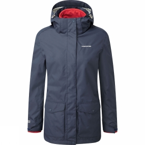 Craghoppers Craghoppers Womens Madigan III 3-in-1 Jacket Soft Navy/Fiesta Red