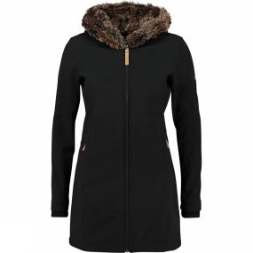 Ayacucho Womens Husky Coat Black