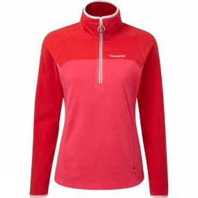 Craghoppers Craghoppers Womens Womens Ionic II Half Zip Electric Pink/Fiesta