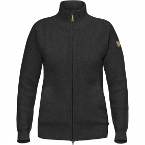 Fjallraven Womens Övik Zip Cardigan Dark Grey