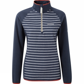 Craghoppers Craghoppers Womens Tille Half Zip Soft Navy Strip/Soft Navy