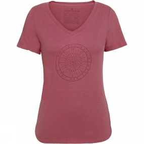 United By Blue Womens Wander Compass Tee Mauvewood