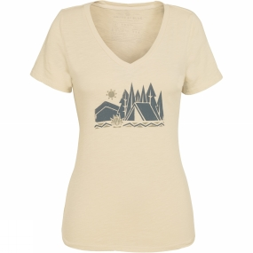 United By Blue Women's Camp Geo Tee Turtle Dove