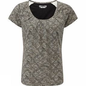 Womens Essential Tie-Diamond Tee