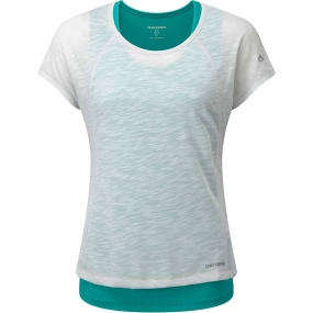 Craghoppers Womens Pro Lite 3-in-1 T-Shirt Dove Grey/Light Turquoise