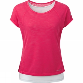 Craghoppers Craghoppers Womens Pro Lite 3-in-1 T-Shirt Electric Pink/Dove Grey