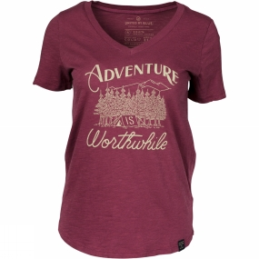 United By Blue Womens Adventure Tee Oxblood