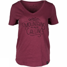 United By Blue Womens And I Must Go Tee Oxblood