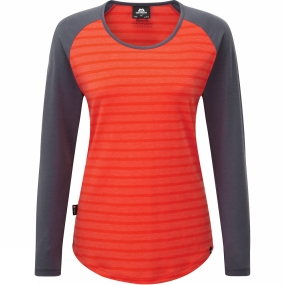 mountain-equipment-womens-redline-long-sleeve-tee-cardinal-orange-wesh-slate