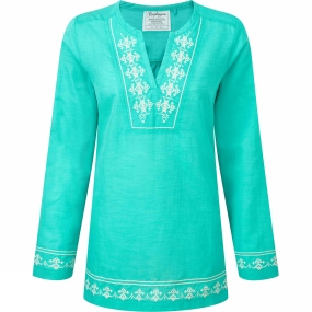 Craghoppers Womens Clemence Long Sleeve Top Spearmint