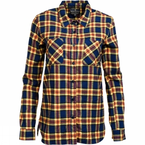 United By Blue United By Blue Womens Eldora Plaid Shirt Yellow Navy