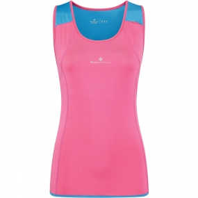 Ronhill Ronhill Ronhill Womens Trail Cargo Tank Rose/Sky Blue