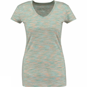 Ayacucho Womens Valery Tee Space Dyed Agate Green/Crystal Blue/Coral