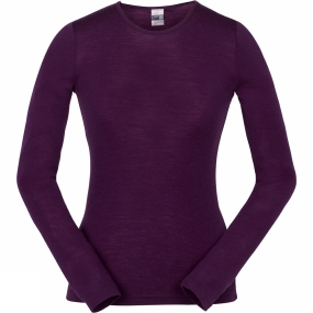 Icebreaker Icebreaker Womens Everyday Long Sleeve Crewe Vino