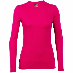 Icebreaker Icebreaker Womens Tech Long Sleeve Crewe Pop Pink