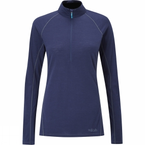 Rab Womens Merino+ 120 Long Sleeve Zip Top