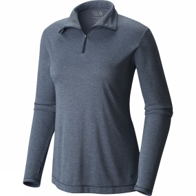 Mountain Hardwear Mountain Hardwear Womens Wicked Printed Long Sleeve Zip T Heather Zinc