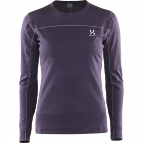 Haglofs Haglofs Women's Actives Blend Roundneck Acai Berry