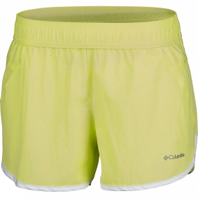 Columbia Womens In The Dust Running Shorts Neon Light