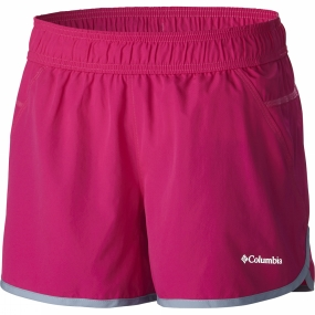 Columbia Womens In The Dust Running Shorts Haute Pink