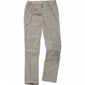 Craghoppers Craghoppers Womens NosiLife Pro Trousers Mushroom