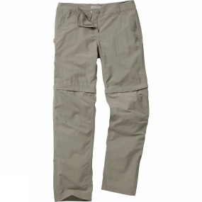 Craghoppers Craghoppers Womens NosiLife Zip Off Trousers Mushroom