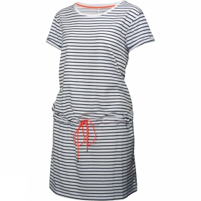 Helly Hansen Womens Naiad Dress Evening Blue Stripe