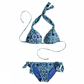 Roxy Roxy Beach Dream Bikini Light Green/Dark Blue