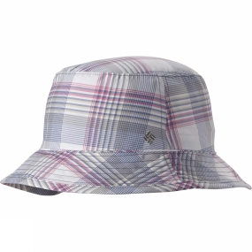 Columbia Womens PFG Bahama Bucket Hat Bluebell Plaid