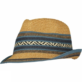 Ayacucho Lady Trilby Hat Natural/Blue