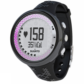 suunto womens m5 sport watch (+mini movestick) black/silver