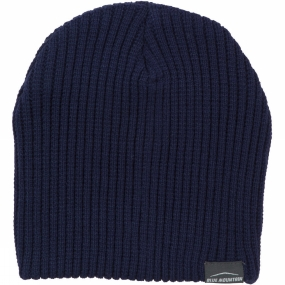 Blue Mountain Ribbed Beanie Dark Blue