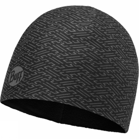 Buff Microfiber Patterned Polar Hat Kureshi Black